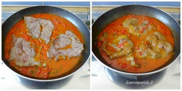 cuocere carne nel sugo