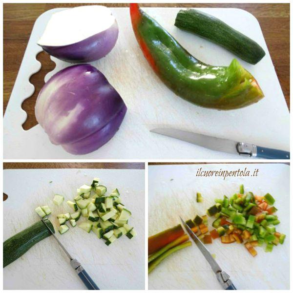 tagliare verdure a dadini