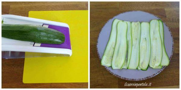 affettare zucchine con la mandolina