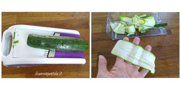 affettare zucchine