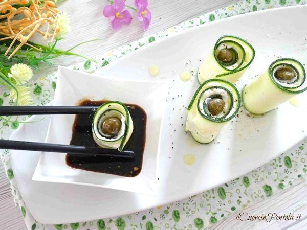 involtini di zucchine e robiola
