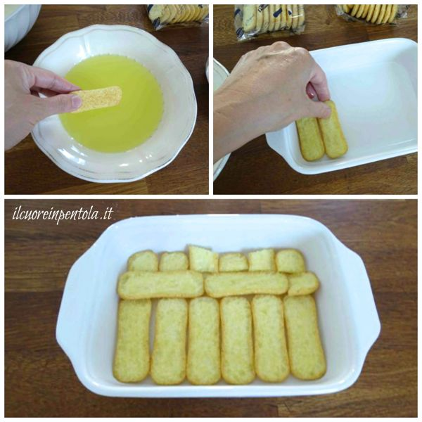inzuppare biscotti nella bagna