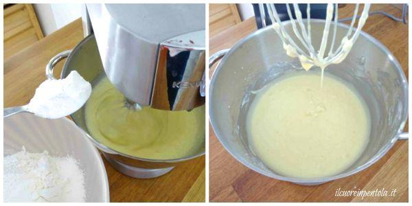 aggiungere farina e lievito