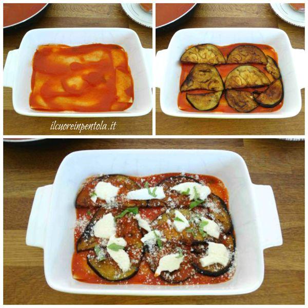 aggiungere melanzane e mozzarella