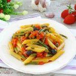 pasta con fagiolini e pomodoro