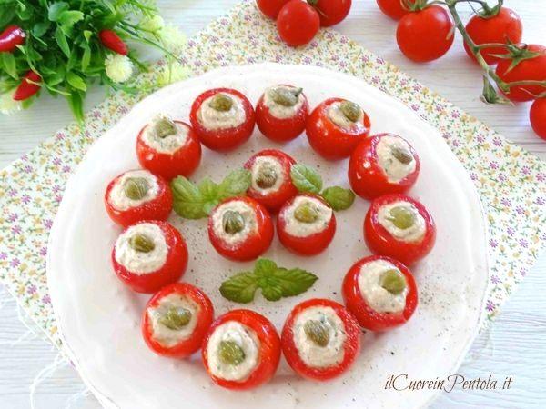 pomodori ripieni di tonno freddi