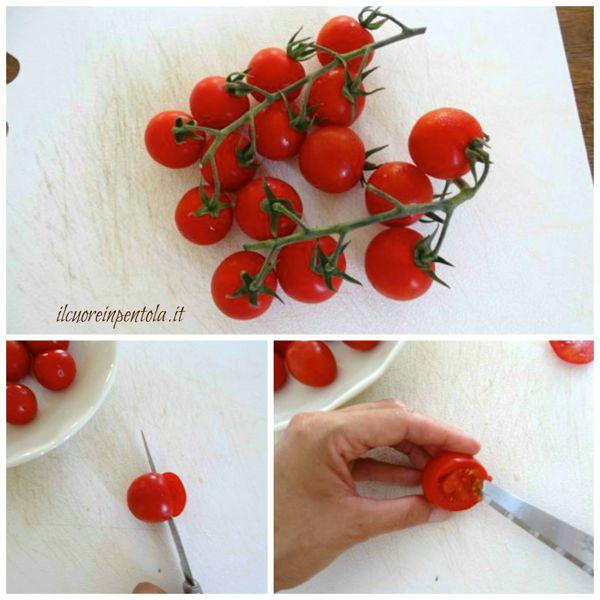 svuotare pomodorini