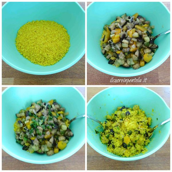 mescolare cous cous e verdure