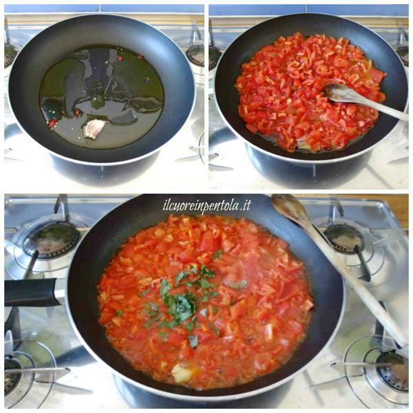 preparare sugo di pomodoro fresco