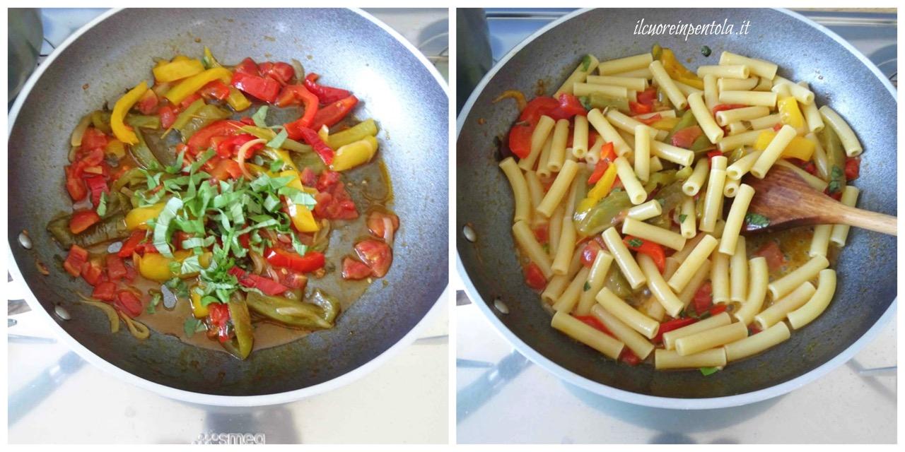 cuocere pasta e mescolare