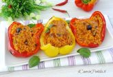Peperoni ripieni di riso e tonno