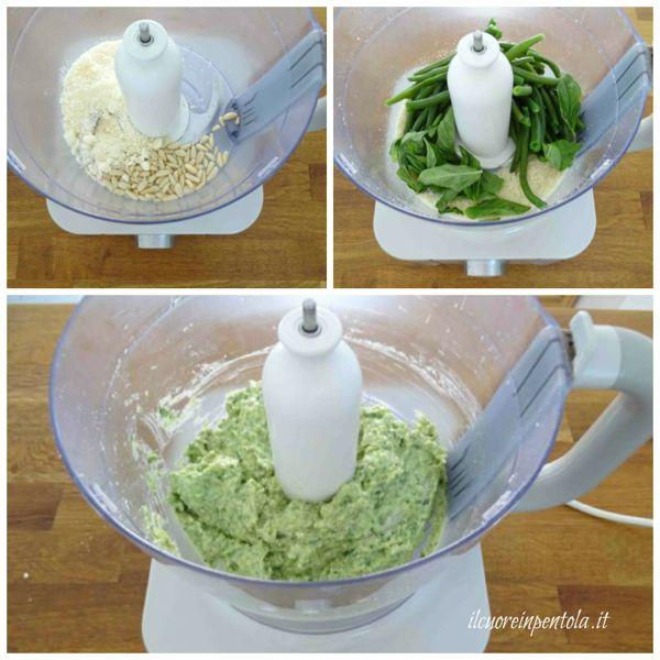 preparare pesto fagiolini