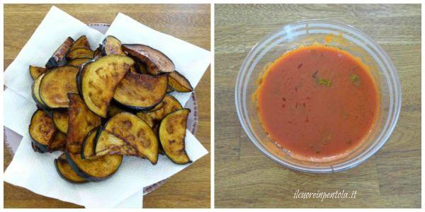 preparare sugo e melanzane fritte