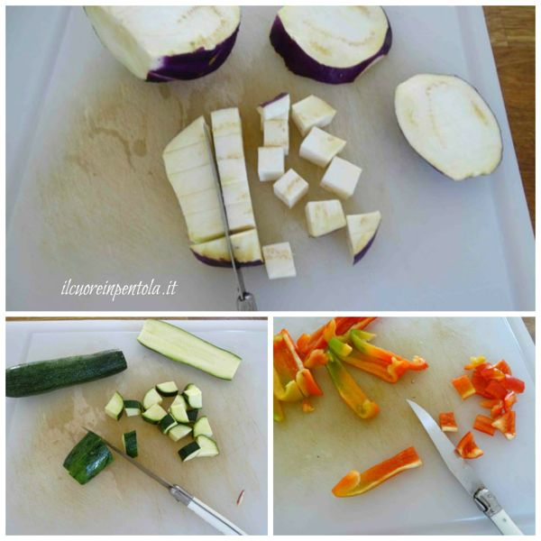 tagliare verdure