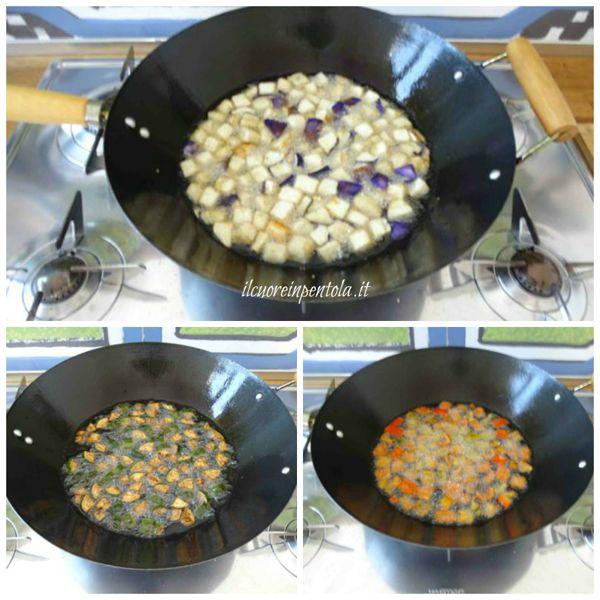 friggere verdure