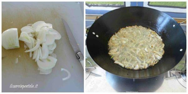 friggere la cipolla