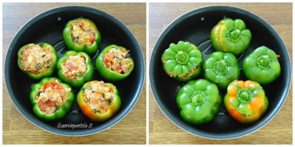 mettere peperoni nella teglia