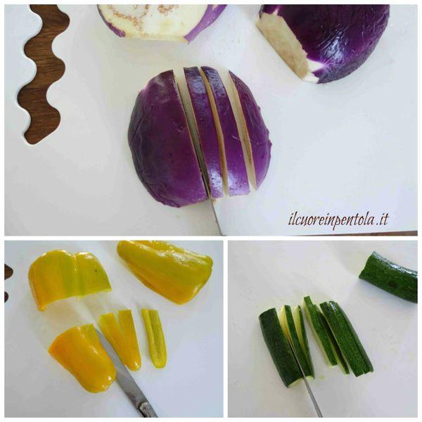 tagliare verdure a bastoncino