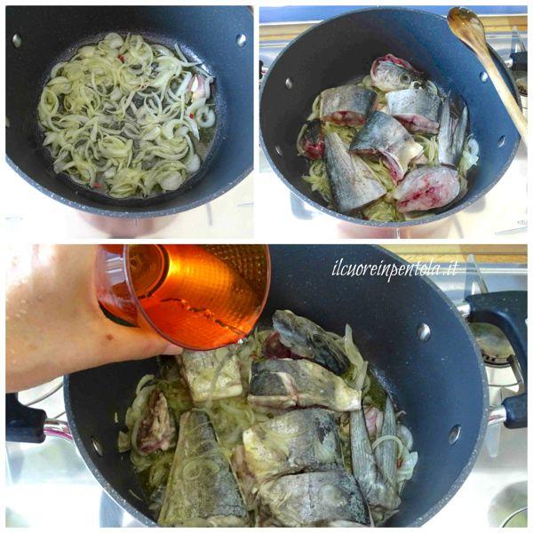 preparare soffritto e rosolare pesce
