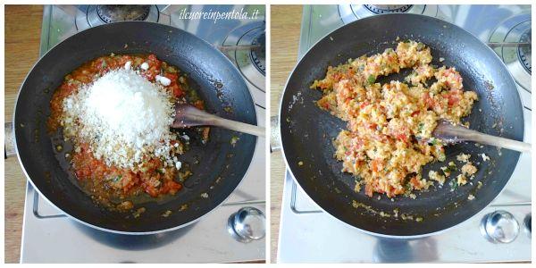aggiungere mollica e formaggio