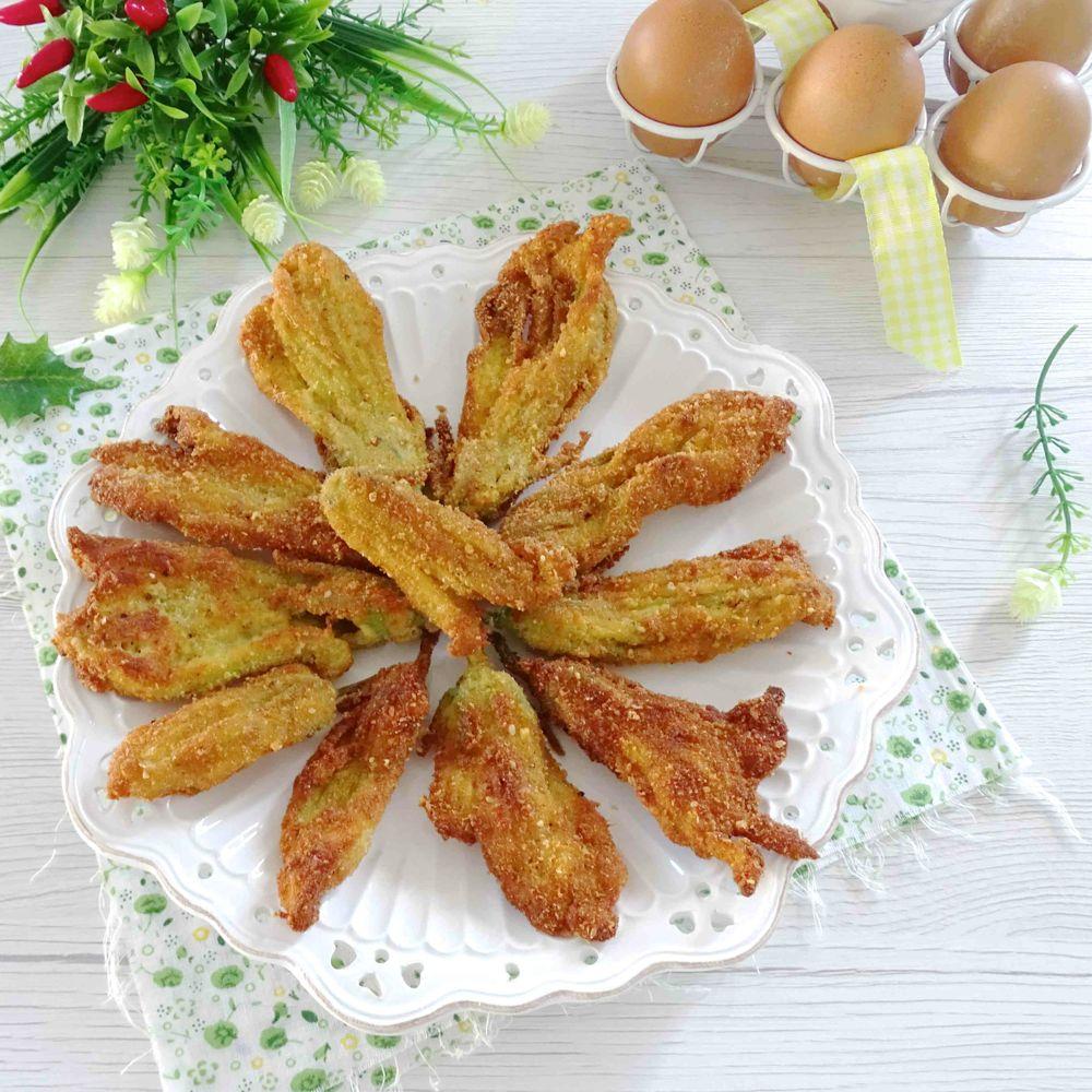 fiori di zucca impanati e fritti