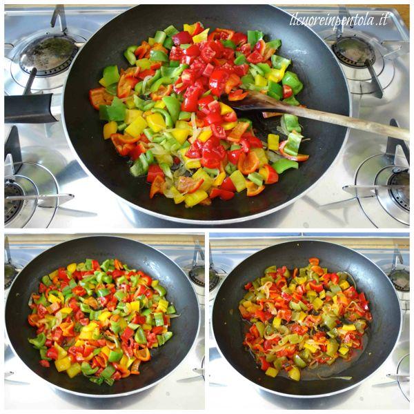 aggiungere pomodoro e basilico