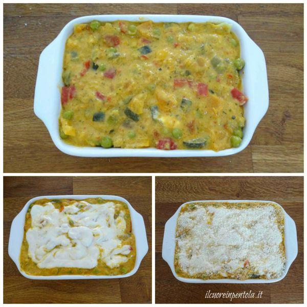 ultimare lasagne con besciamella