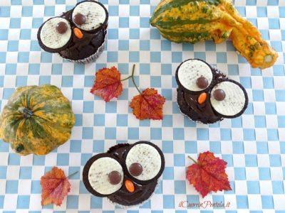 Muffin gufo di Halloween