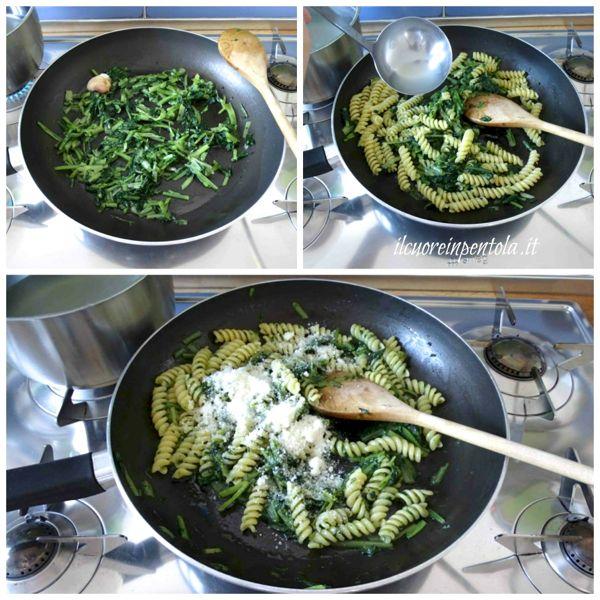 mantecare pasta con pecorino
