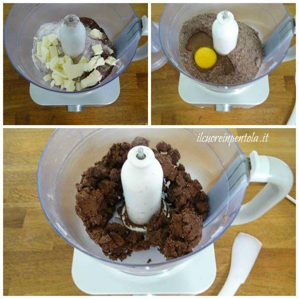 preparare pasta frolla al cacao