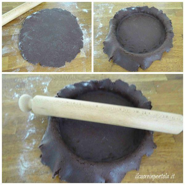 mettere pasta frolla nello stampo