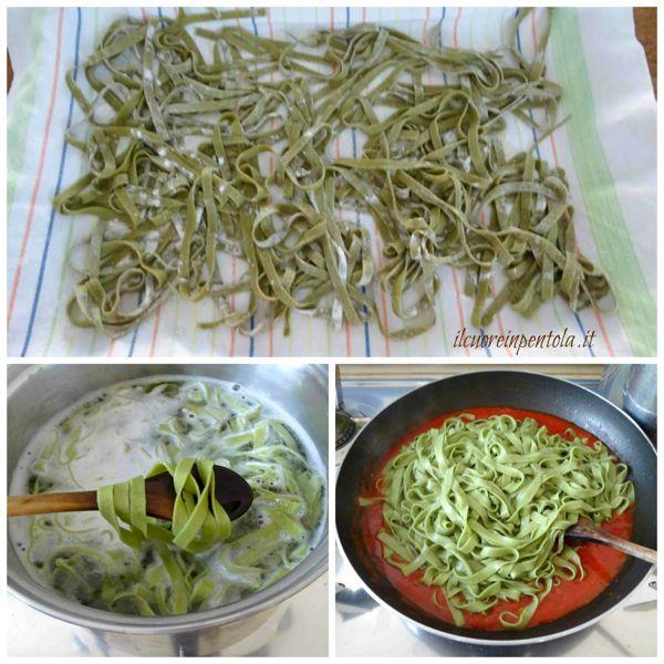 cuocere pasta al basilico