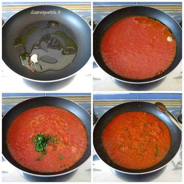 preparare sugo di pomodoro