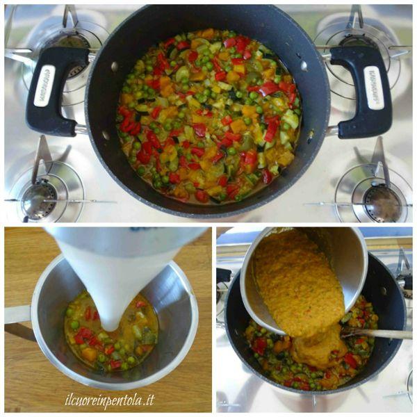 frullare una parte di verdure