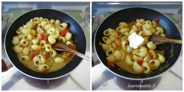mantecare pasta con sugo di verdure
