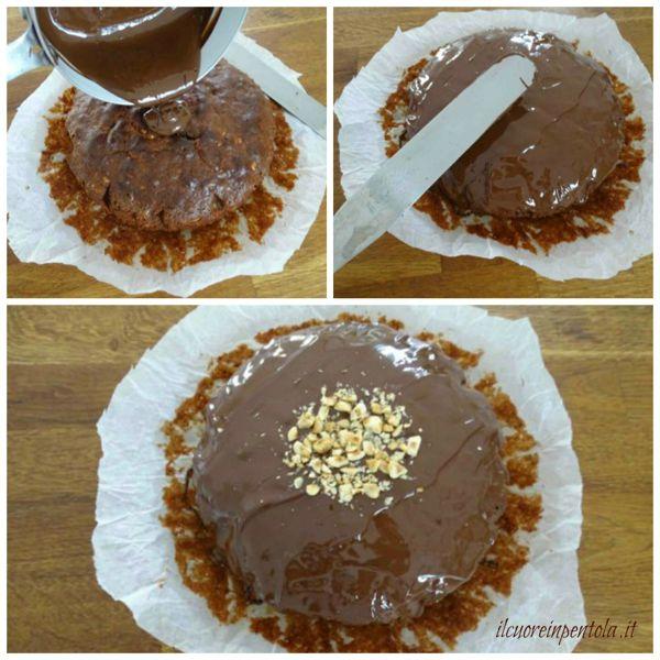 decorare torta con cioccolato