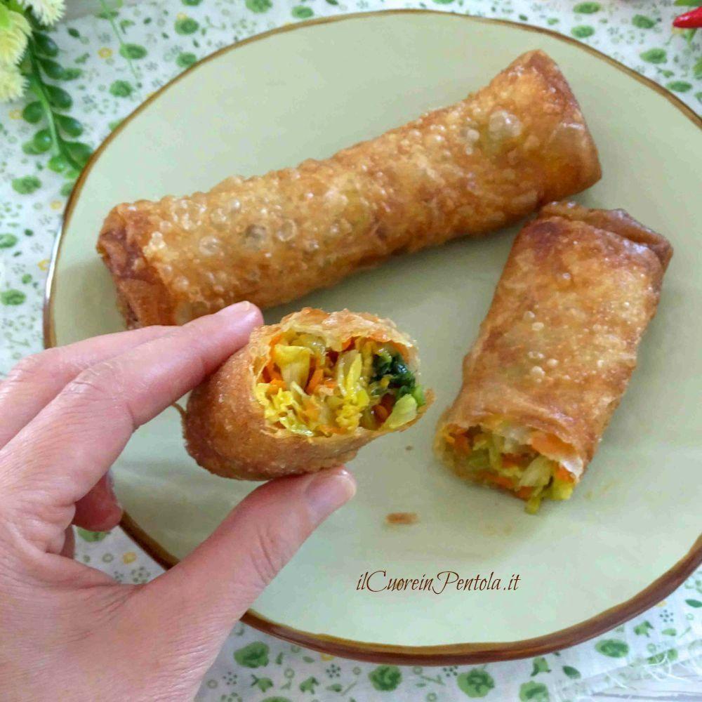 involtini di pasta fillo con verdure