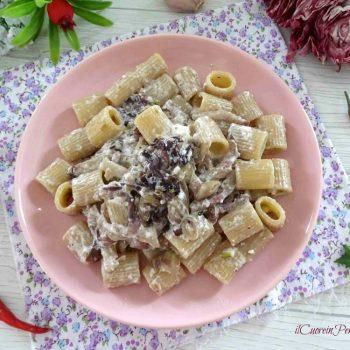 pasta con radicchio e pancetta