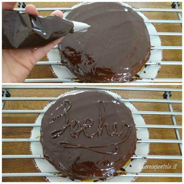 decorare torta con scritta