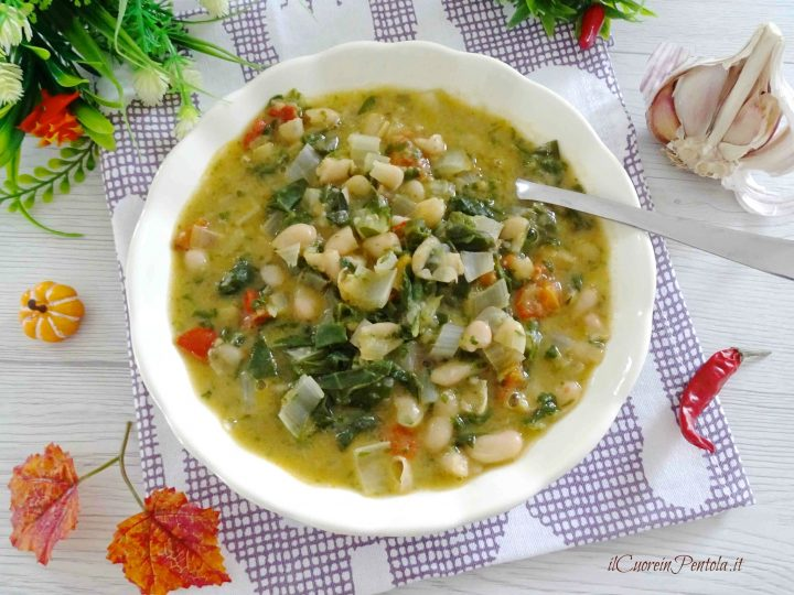 zuppa di fagioli e bietole