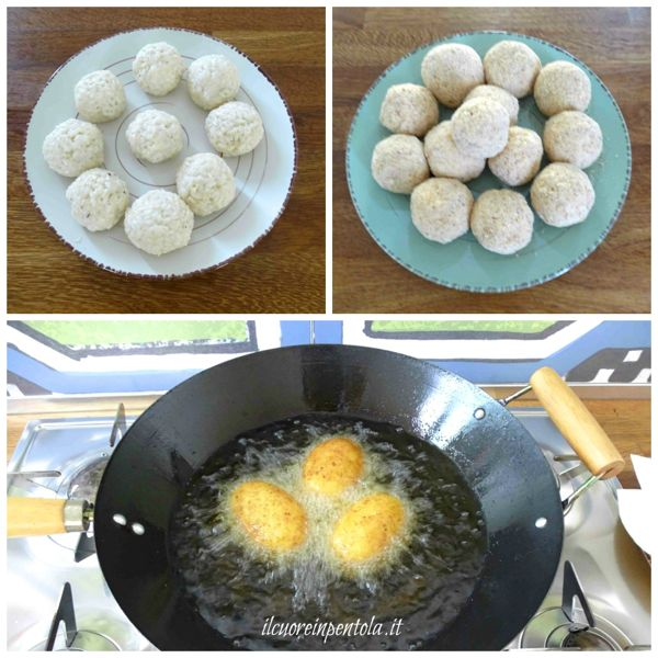 panare e friggere arancine
