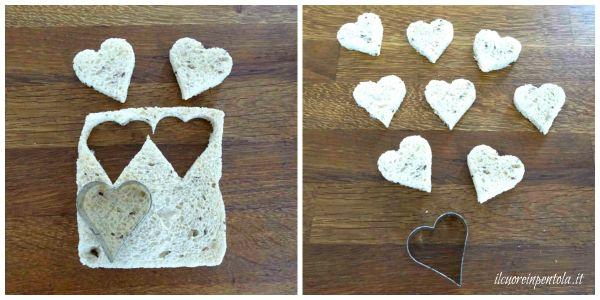 ritagliare pane per tramezzini