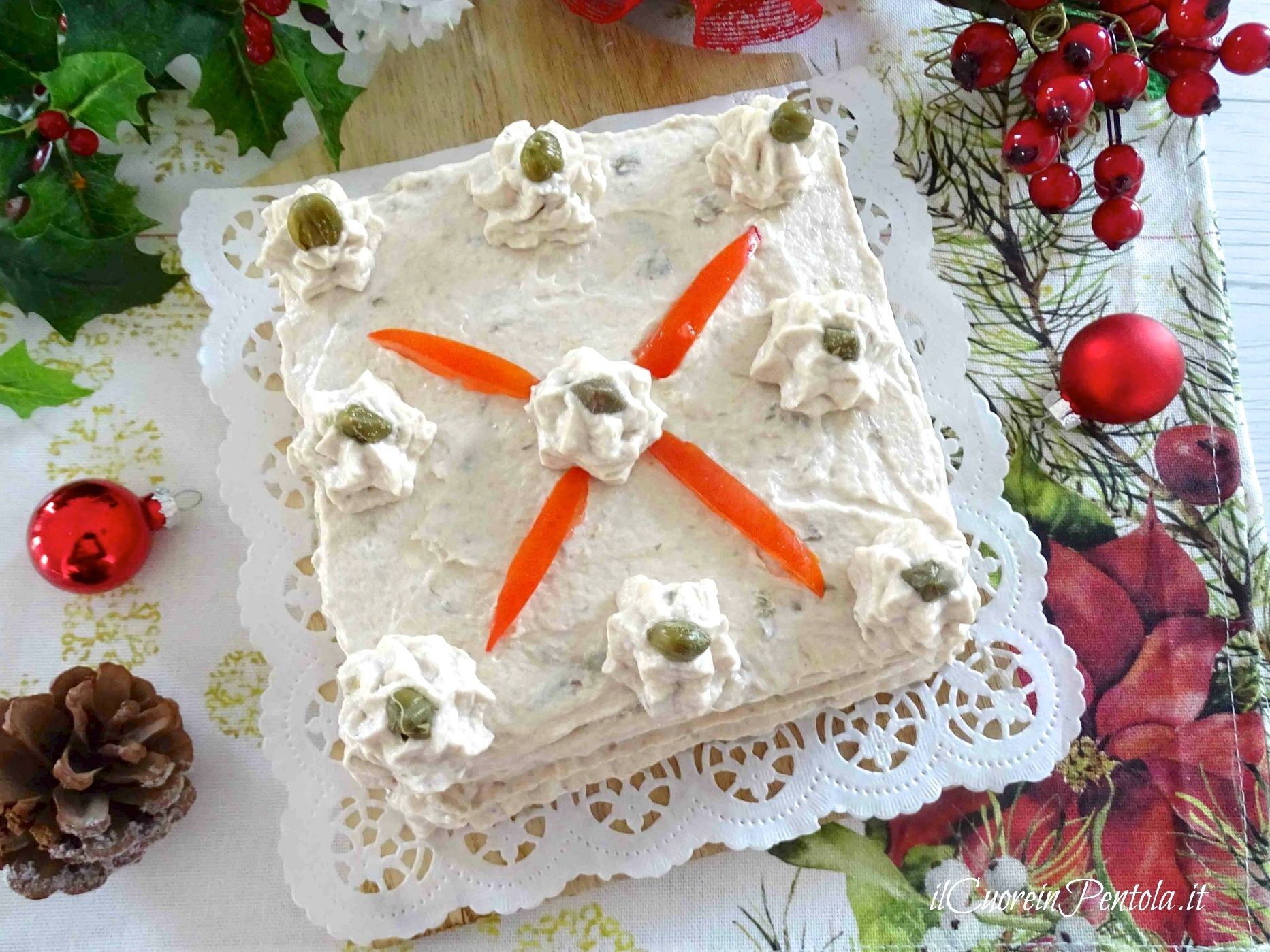 Torte Decorate Per Natale torta tramezzino