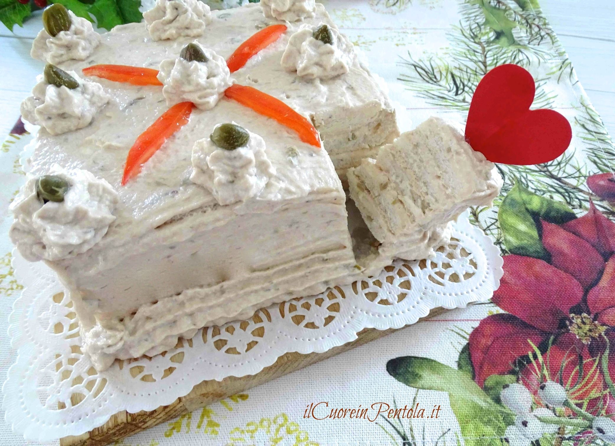 torta tramezzino al tonno