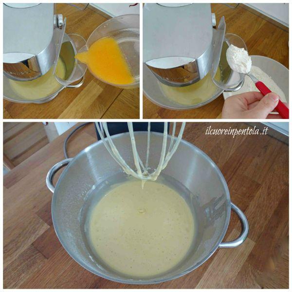aggiungere farina e acqua