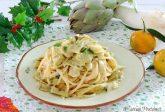 Pasta con carciofi e succo di mandarino