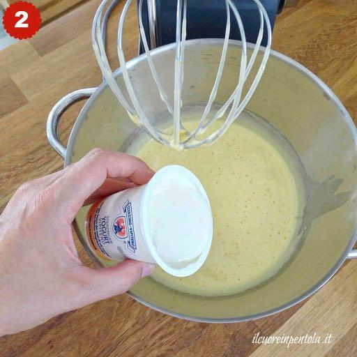 aggiungere lo yogurt