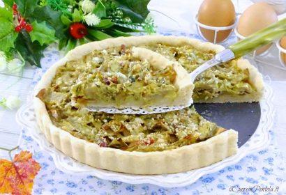 Torta salata con carciofi