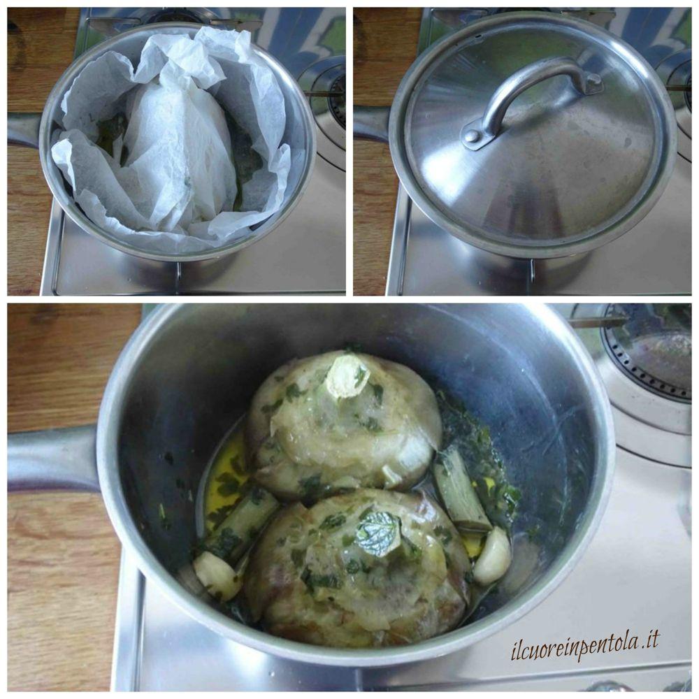 coprire e cuocere