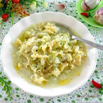 minestra con cavolfiore
